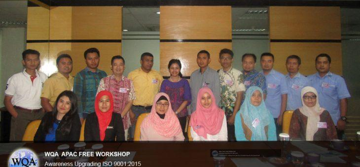 Free Workshop Awareness Upgrading ISO 9001:2015 – Jakarta, 4 Agustus 2016