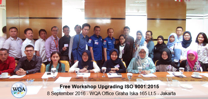 WQA – Free Workshop ISO 9001:2015