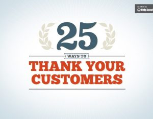Book Cover: 25 Ways To Thank Your Customers