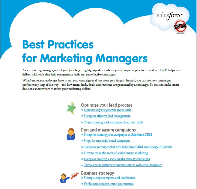 Book Cover: Best Practices for Marketing Managers