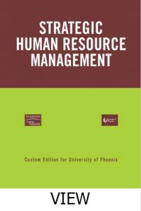 Book Cover: Strategic Human Resource Management