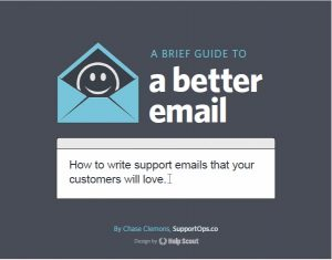 Book Cover: a brief guide to a better  email